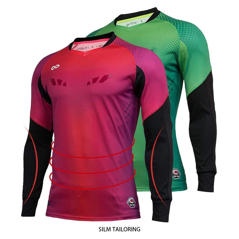 e1cf76c7b34 Get Quotations · CG Professional Soccer Goalkeeper Jersey Men Goalie Long  Sleeve Shirt