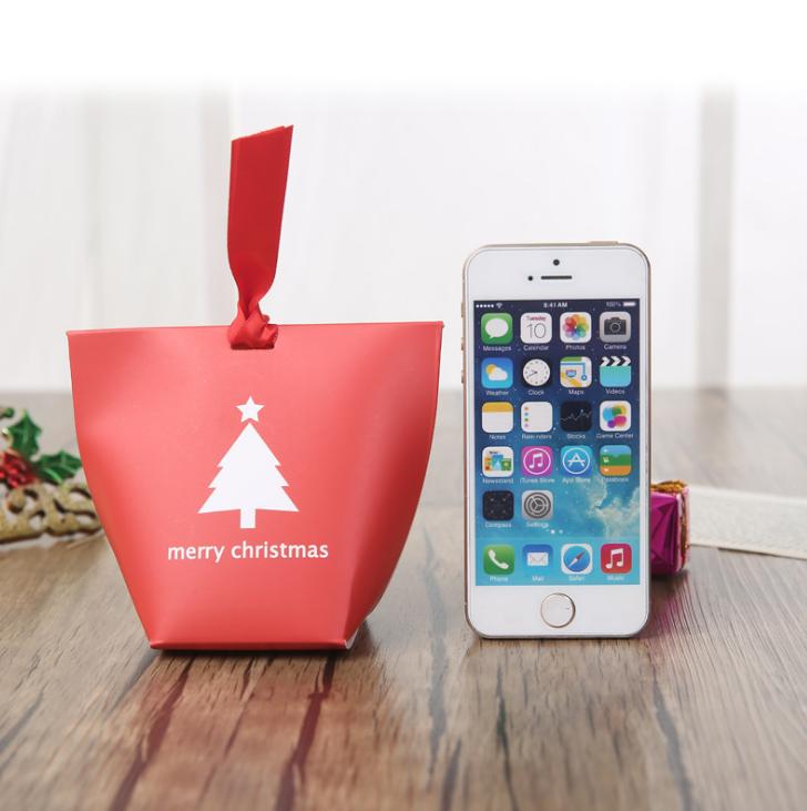 मिनी कागज पैकेजिंग क्रिसमस शादी वर कैंडी उपहार बॉक्स के साथ कस्टम लोगो