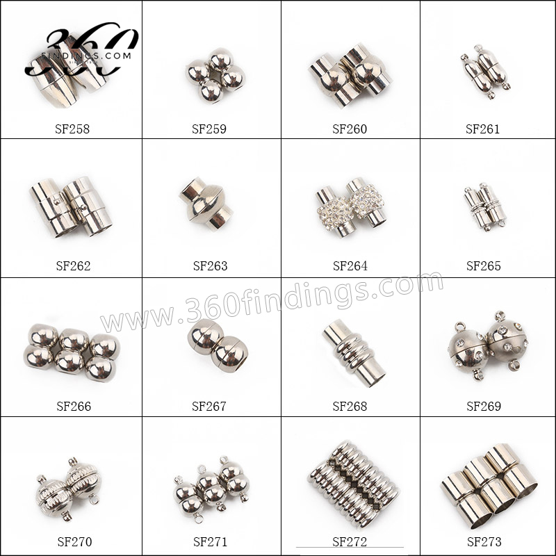 Stainless steel jewelry various round 5mm clasp tube clasp magnetic clasp for bracelet