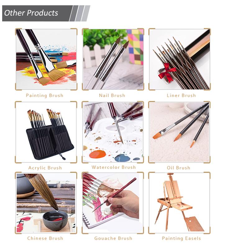 Yüksek Kaliteli Sentetik Naylon Fırçalar 15 Adet Sanatçı Fırça Seti Boya Fırçaları için Tutucu ve Sünger ile Suluboya, Yağ, Akrilik