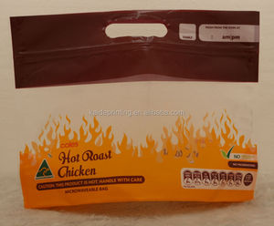grilled chicken plastic bags,microvavble, with bottom gusset and kidney punch