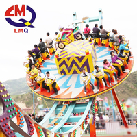 Thrilling amusement rides magic disko rides flying UFO rides with trailer