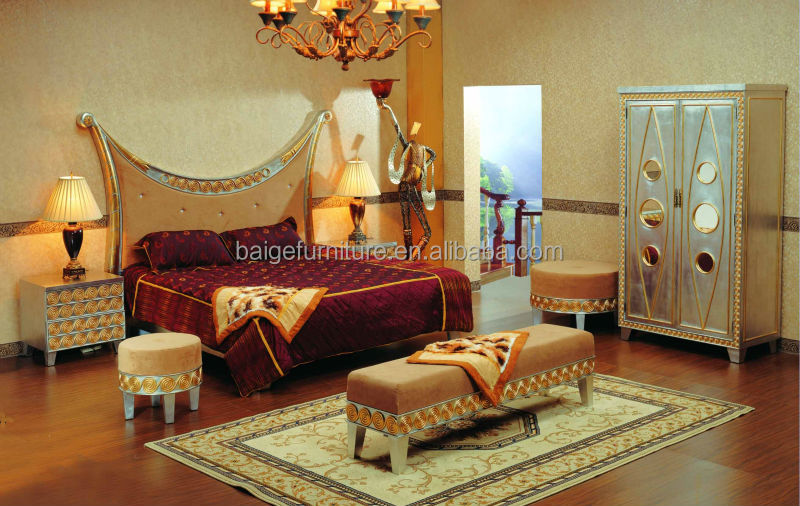 chinese bedroom furniture king size round bed frame king size brass bed bd1050a