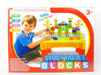 Hot Sale Child Plastic Learning Toy Building Blocks Study Table!
