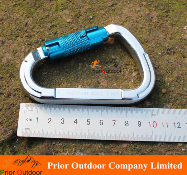 High Quality 25KN aluminum carabiner hook for climbing auto lock Mountain carabiner wholesale outdoor climbing equipment custom