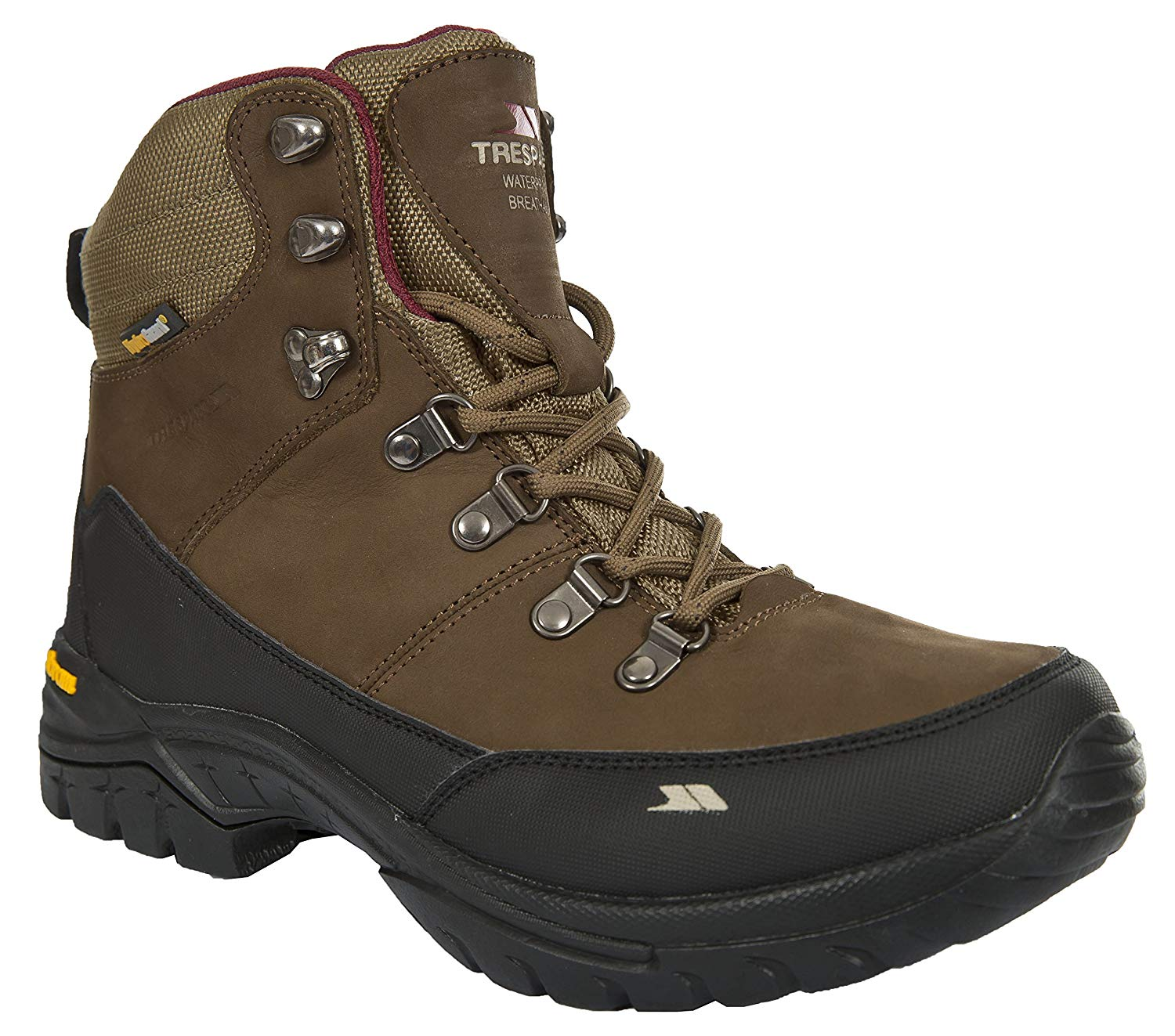 d038227ade2 Get Quotations · Trespass Kenter Women s Leather Walking Waterproof Boots  Mid Cut Hiking Boots