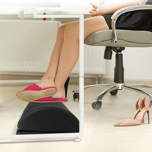 Adjustable Foot Cushion with 2 Optional Covers Under Desk Footrest