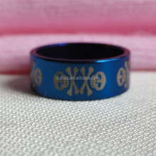 Death Design Sapphire Blue Skull Stainless Steel Ring Holiday Best Hot Product