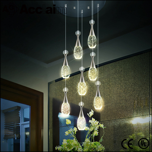 Modern oval crystal chandelier new italian led crystal hanging pendant light for centerpieces