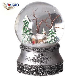 China import items decor OEM resin nativity set christmas custom snow water globe with music for sale