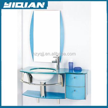 Waschbecken Blau top make-up-schminktisch schlafzimmer möbel glas waschbecken blau