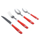 Red Color Cutlery Stainless Steel Cutlery Set With Stand United Cutlery