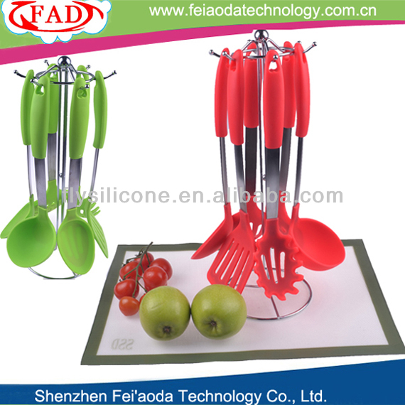 Flexible Silicone Kitchen Cooking Utensils Set Of 6 Alibaba Gold Supplier