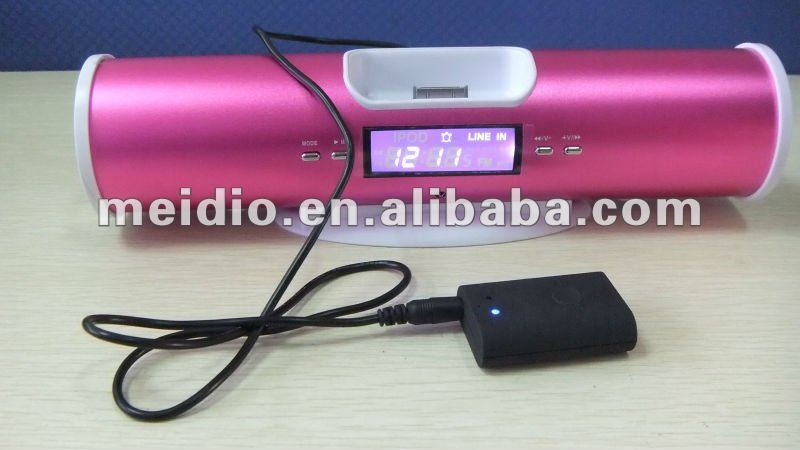 2012 latest Technology Wireless Audio Bluetooth Music Receiver + Speaker For iphone 4 4s ipod