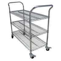 High quality stainless steel trolley cart/storage trolleys with wheels/esd pcb plates trolley