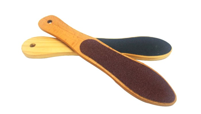 Wood handle double side sandpaper large foot file