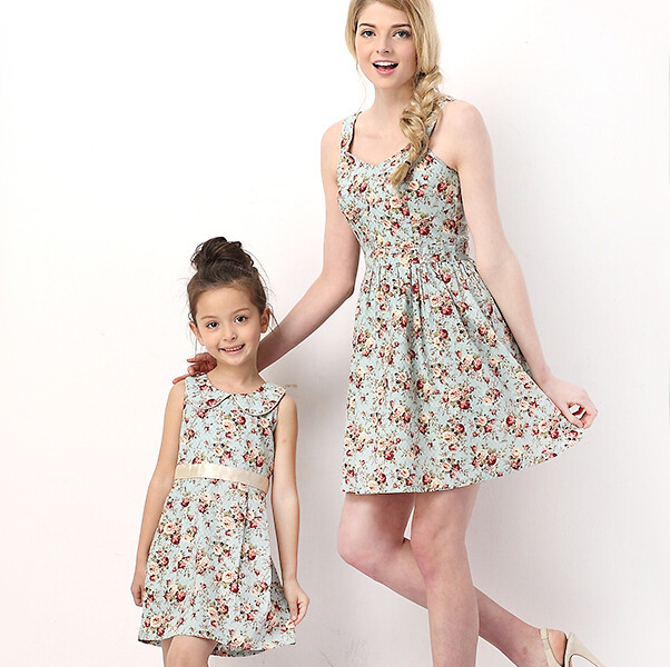 4fba89afde9 Get Quotations · Mother Daughter Dresses Family Clothing Matching Mother  Daughter Clothes Family Style Summer Mother Daughter Dresses