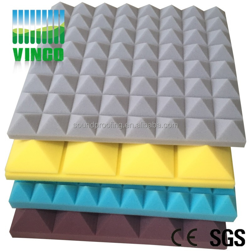 Pyramid stadium sound stop 10pcs 50*50*5cm red acoustic panels gridding square surface soundproof foam