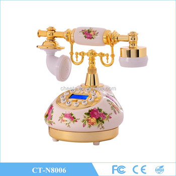 Living Room Vintage Antique Ceramic Sim Card Gsm Cordless Phone