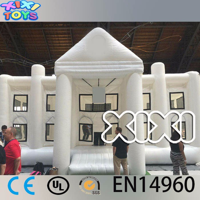 Giant White Adult Bouncy Castle, Bounce Castles For Adults