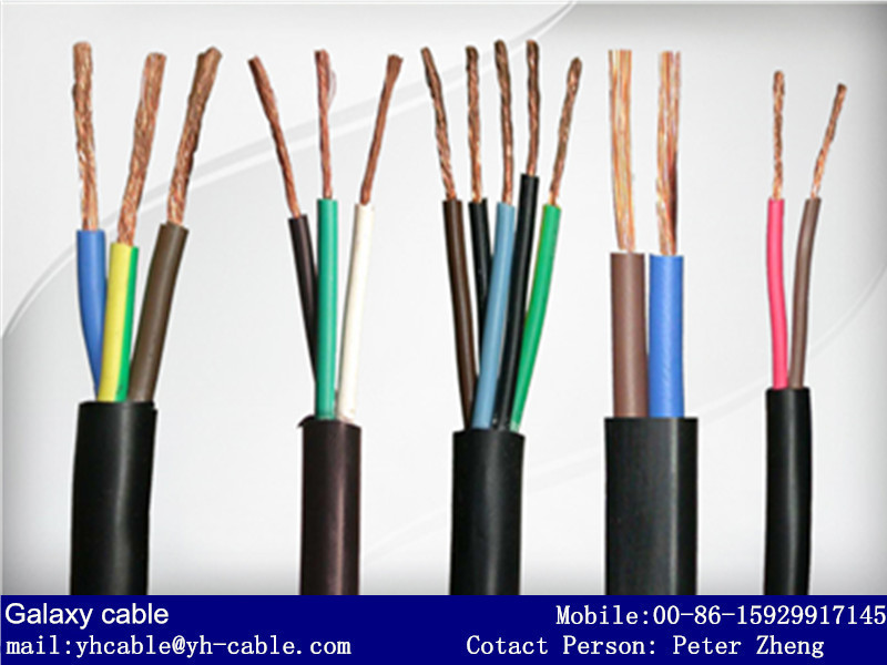 300v  500v pvc flexible house wiring electrical cable twin