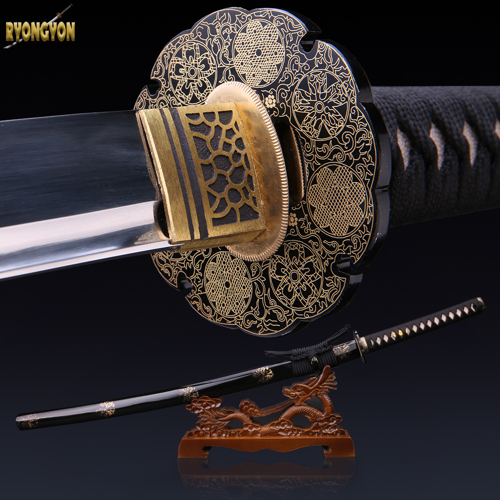 combat weapon handmade katana real sword military japanese ...