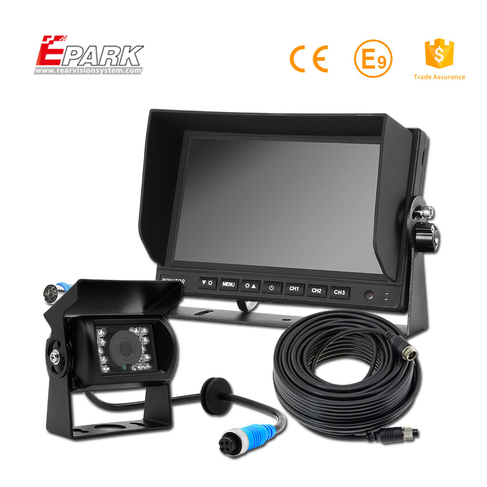 New Product 2017 hd rear view camera 180 degree, adjustable led car rear view camera rearview
