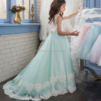Hot Sell New Design Children Frocks Floor Length Aline Lace Baby ...