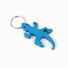Werbe metall <span class=keywords><strong>gecko</strong></span> tier form flasche opener keychain