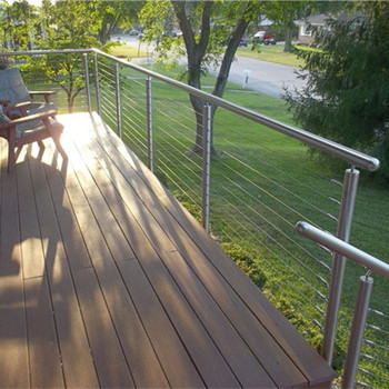 Wire Handrail | Simple Design Diy Wire Balustrade With Stainless Steel Handrail