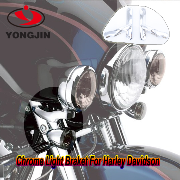 <strong>Motorcycle</strong> & automobile aluminum light holder chrome and black light support for harley davidson