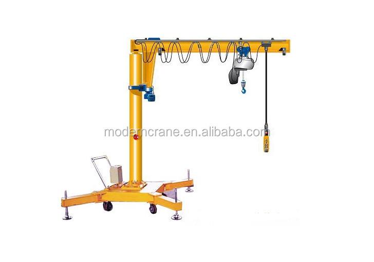 Jib Crane Wheels : Moveable jib crane portable small ton