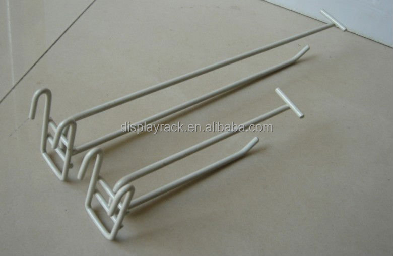 wire mesh panel wire hook/ear hook for department store/powder coated display hook