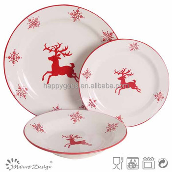 2017 New Design Stoneware Christmas Dinnerware Sets - Buy Christmas ...