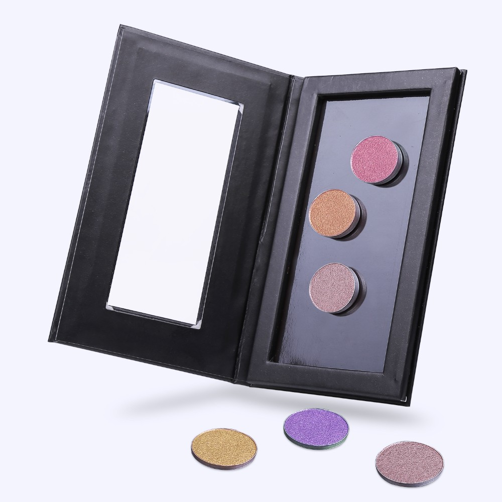New Private label Hot sale Black Empty Makeup Magnetic Palette With your free style