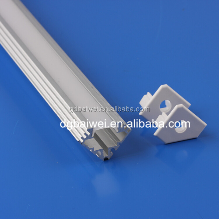 Corner shape customized size aluminum profile for led strip light