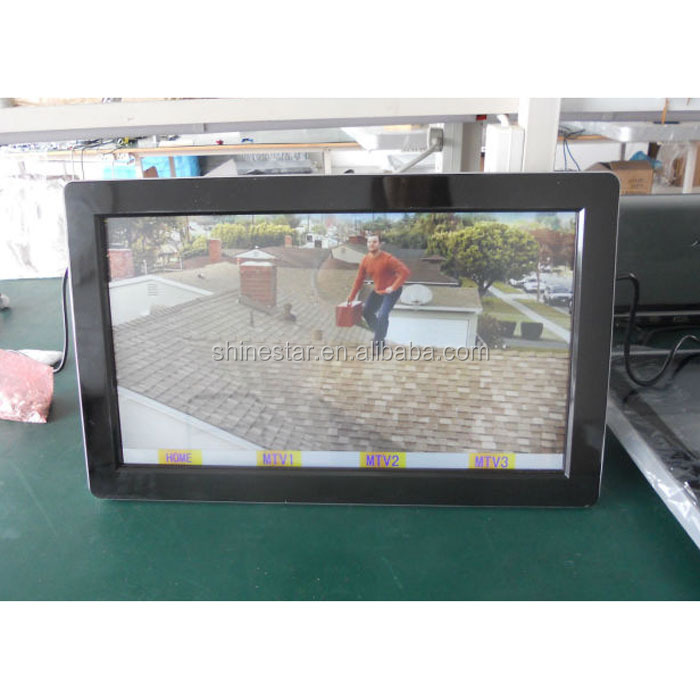 wall mounted 22inch android WIFI LCD touchscreen advertising player totem kiosk