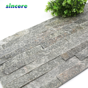 cheap price wall slate panel stacked quartz cultured stone
