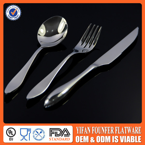 Matte finish stainless cutlery for restaurant Unique design