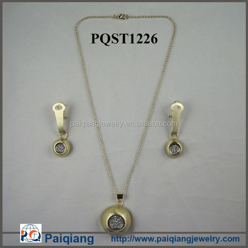 wholesale latest design simple gold necklace dubai gold jewelry ...
