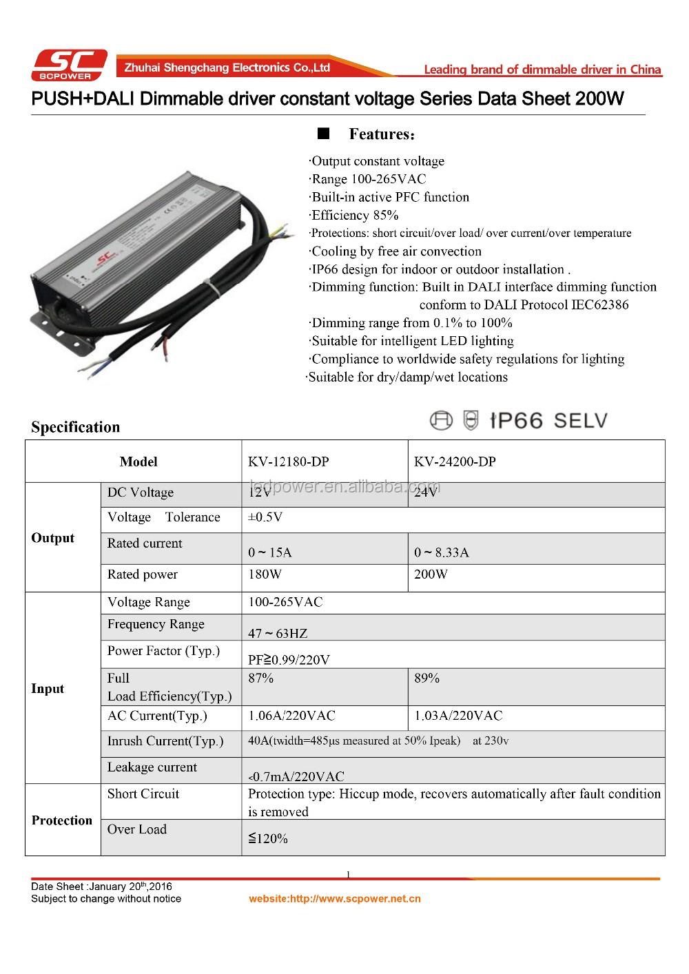 Dali Push Dimming 200w Driver 24v 12v Dc For Led Strip Light 2016 ...