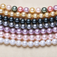 12mm Perfect Round Shell Pearl Strands SSN019