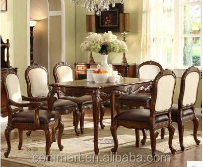 Mesa comedor de madera conjunto material de diseño europeo living ...