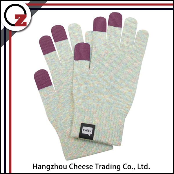 Windproof cheap winter touch screen gloves for lady