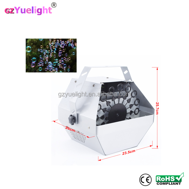 Factory price Christmas kids silver electric 60w small bubble machine for party