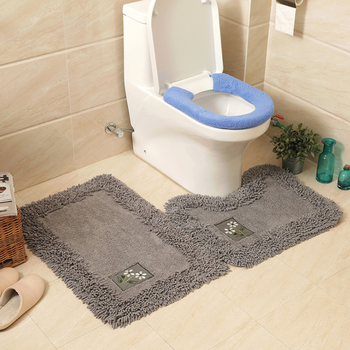 Cotton Rug Bathroom Kitchen Water Absorb Carpet Pure Color Plain Mat From China