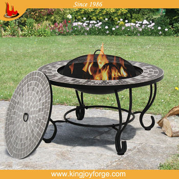Outdoor Round Bbq Table Fire Pit