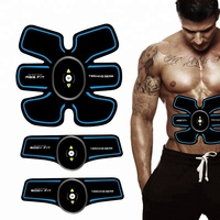 Rechargeable AB Trainer Fitness Massager EMS Muscle Stimulator for Stronger Arm Leg Abdominal Muscle
