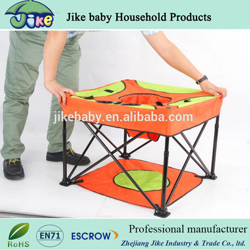 Cartoon design Chair Type And Plastic And Steel Safety Belt Harness High Baby Chair