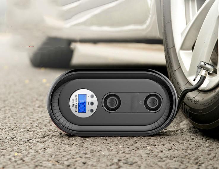 Notável Desempenho Pneus de Carro Bomba Compressor de Ar Do Pneu Inflator Portátil Auto Shut-Off Digital com Lanterna De Emergência LEVOU